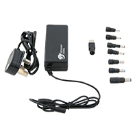 Powercool 65W 19V 3.42A Universal Laptop AC Adapter With 8 TIPS - Click below for large images
