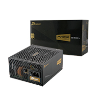 Seasonic Prime 650w Gold PSU 80 Plus Modular Active PFC - Click below for large images