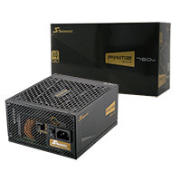 Seasonic Prime 750w Gold PSU 80 Plus Modular Active PFC - Click below for large images