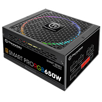 Thermaltake Smart Pro 650W Fully Modular PSU RGB Fan 80 Plus - Click below for large images
