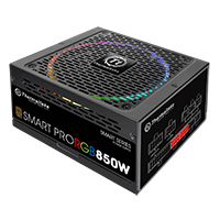 Thermaltake Smart Pro 850W Fully Modular PSU RGB Fan 80 Plus - Click below for large images