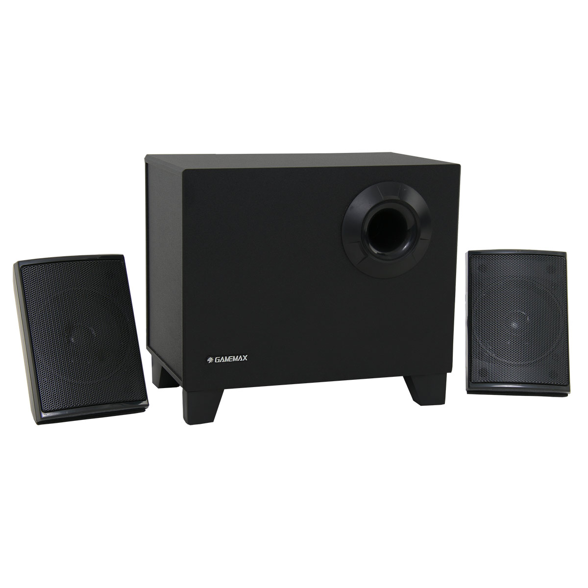 how to add speakers to a 2.1 system