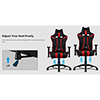 Aerocool AC120 Air Black / Red Gaming Chair with Air Technology and Headrest & Backrest Cushions Included - Alternative image