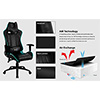 Aerocool AC120 Air RGB Black Gaming Chair ETA. Coming Soon - Alternative image