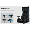 Aerocool P7-GC1 Air Black Gaming Chair - Alternative image