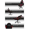 AK Racing  Gaming Chair K7012 Black Red - Alternative image