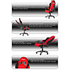 AK Racing  Prime K7018 Gaming Chair Black Red - Alternative image