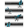 AK Racing  Player 6014 Gaming Chair Black Blue - Alternative image