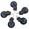 AK Racing  Rollerblade Casters Blue - Alternative image