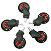 AK Racing  Rollerblade Casters Red - Alternative image
