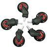 AK Racing  Rollerblade Casters Red - Alternative image