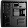 Aerocool CS1101 Black Mini Tower Micro ATX 1 x 80mm Rear Fan 2 x USB2 1 x USB3 - Alternative image