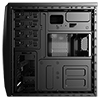 Aerocool CS1102 Black Mid Tower 1 x 80mm Rear Fan 2 x USB2 1 x USB3 - Alternative image