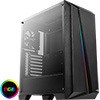View more info on Aerocool Cylon Pro Black RGB LED Mid-Tower Gaming Case Tempered Glass...