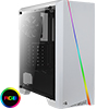 View more info on Aerocool Cylon White RGB LED Midi Case with Elegant Chroma Front LED Strip...