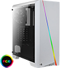 View more info on Aerocool Cylon White RGB LED Mid-Tower Gaming Case Tempered Glass...