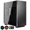 View more info on Aerocool Glo Black Tempered Glass RGB Midi Case with Two RGB LED Stripes...