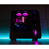 Aerocool Project 7 P7C0 Black Pro16.8 Mil Colour RGB Fans & Hub Dual Tempered Glass Panels - Alternative image