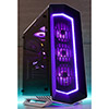 Aerocool Project 7 P7C1 Mid-Tower Black & White Pro 3 x 16.8 Mil Colour RGB Fans & Hub Tempered Glass Panel - Alternative image