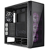 Aerocool Quartz Pro Black Full Tower Glass Front & Side Panel 3 x 12cm RGB Fans   - Alternative image