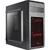 View more info on Aerocool SI5101 Advance Mid Tower Case Black 2 x Red LED Front 1 x Rear Black ...