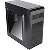 Aerocool SI5101 Advance Mid Tower Case Black 2 x Red LED Front 1 x Rear Black  - Alternative image