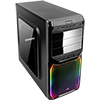 Aerocool V3X Black RGB Midi Gaming Case with Window & Two RGB LED Stripes - Alternative image