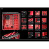 Aerocool X-Predator X1 Devil Red Gaming Case Black Interior 12cm Red LED Fan - Alternative image
