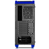 CiT Flash Mid Tower Black Blue With 3x12cm 33 Blue LED Fans Glass Side Top Front - Alternative image
