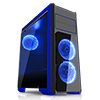 View more info on CiT Flash Mid Tower Black Blue With 3x12cm 33 Blue LED Fans Glass Side Top Front...