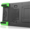 CiT Flash Mid Tower Black Green With 3x12cm 33 GRN LED Fans Glass Side Top Front  - Alternative image