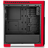 CiT Flash Mid Tower Black Red With 3x12cm 33 Red LED Fans Glass Side Top Front - Alternative image