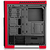 CiT Flash Mid-Tower Black Red With 3x12cm 33 Red LED Fans Glass Side Top Front - Alternative image