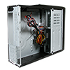 CiT S014B Black Slim Micro ATX or ITX Case 300w PSU Built-in Card-Reader - Alternative image