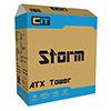 CiT Storm Black ATX Case 1 x 12cm Blue LED Front Fan - Alternative image