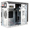 CiT 1015BS Gloss Black/Silver Micro ATX Case 500W PSU - Alternative image