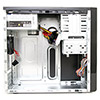 CiT 1016 Gloss Black/Silver Micro ATX Case 500W PSU - Alternative image