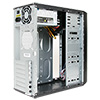 CiT 1018 Black/Silver Midi Case 500W PSU - Alternative image