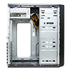 CiT 1018 Black/Silver Midi Case 500W PSU - Alternative image