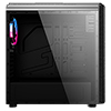 CiT Alizarin Black Gaming Case With Full Acrylic Window - Alternative image