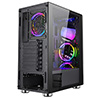 CiT Alpha Black 3 x ARGB Fans 1 x LED Strip and Hub Tempered Glass - Alternative image