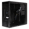CiT Black Steel Micro Atx Case With Card Reader No Power Supply - Alternative image