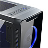 CiT Blaze Mid-Tower Gaming Chassis 6 x Single Ring Fan Blue Tempered Glass  - Alternative image