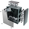 CiT C1007 Midi Chassis with LED Strip 1 x LED Fan Temp Glass - Alternative image