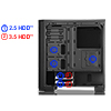 CiT Challenger Mid-Tower Gaming Case Full Window 33 LED Fans - Alternative image