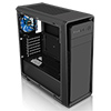 CiT Dark Soul Black Midi Case With 1 x 12cm Blue 4 LED Rear Fan Side Window Panel - Alternative image