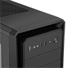 CiT Dark Soul Black Mid-Tower Case With 1 x 12cm Blue 4 LED Rear Fan Side Window Panel - Alternative image