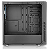 CiT Dark Star Black Midi Case 1 x 12cm Blue 4 LED Rear Fan With Side Window Panel - Alternative image