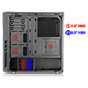 CiT Dark Star Black Mid-Tower Case 1 x 12cm Blue 4 LED Rear Fan With Side Window Panel - Alternative image