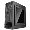 CiT Discovery Mid-Tower Gaming Case Single Led Front and 1 x 33 LED Rear Perspex Window  - Alternative image